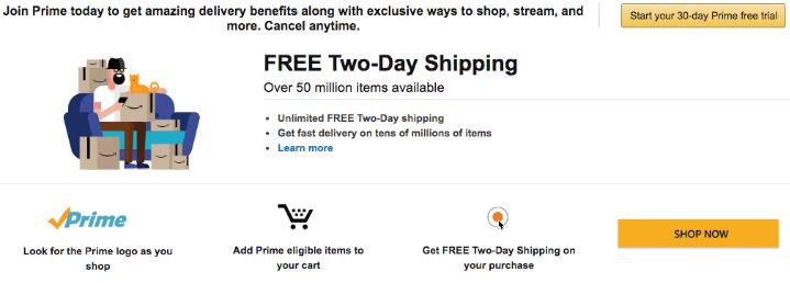 Amazon Prime Free Two-Day Shipping